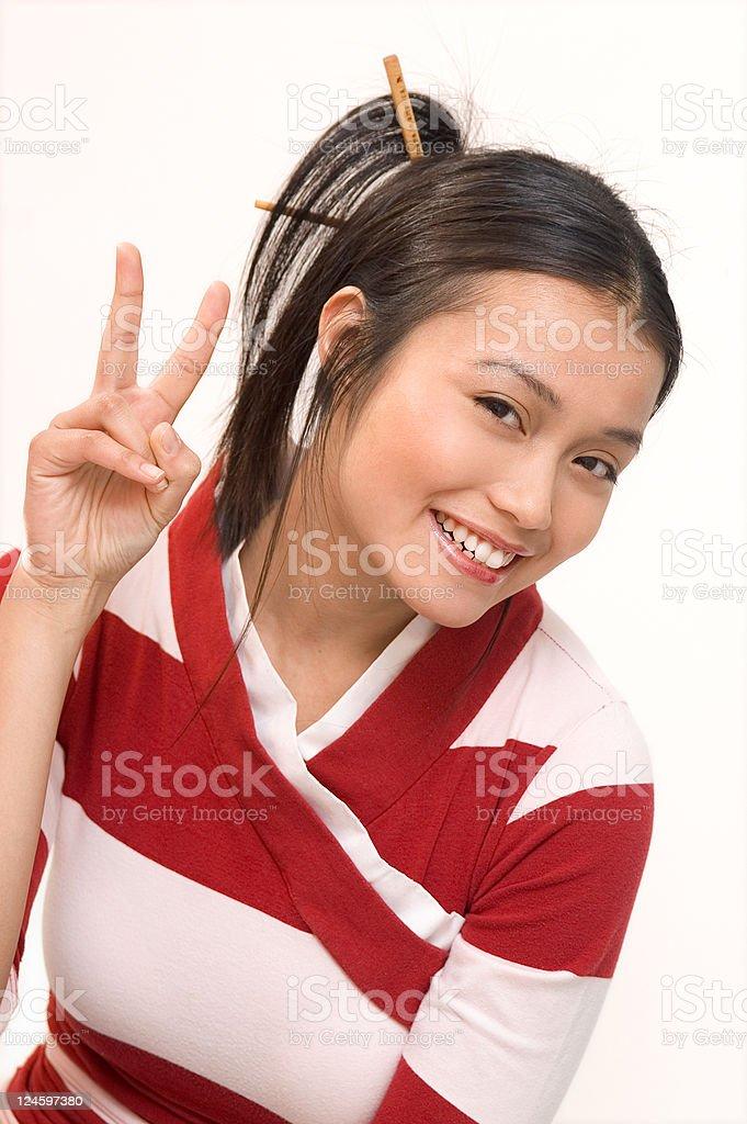 Asian Girl Having Fun stock photo
