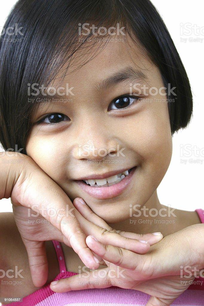 Asian girl (series) royalty-free stock photo