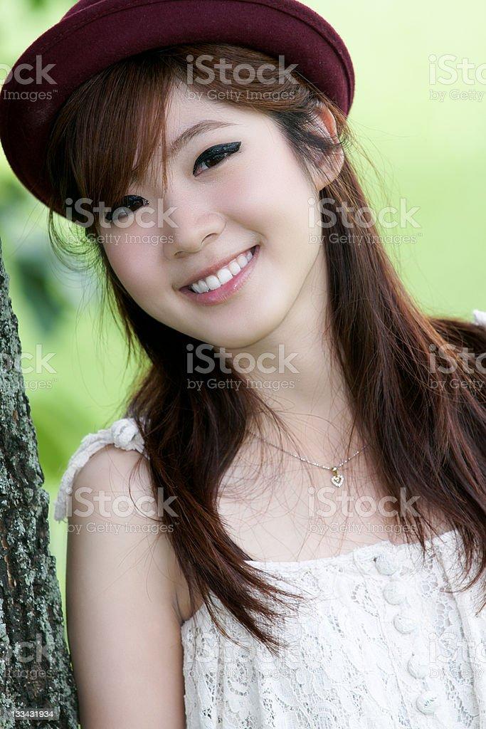 Asian girl portrait royalty-free stock photo
