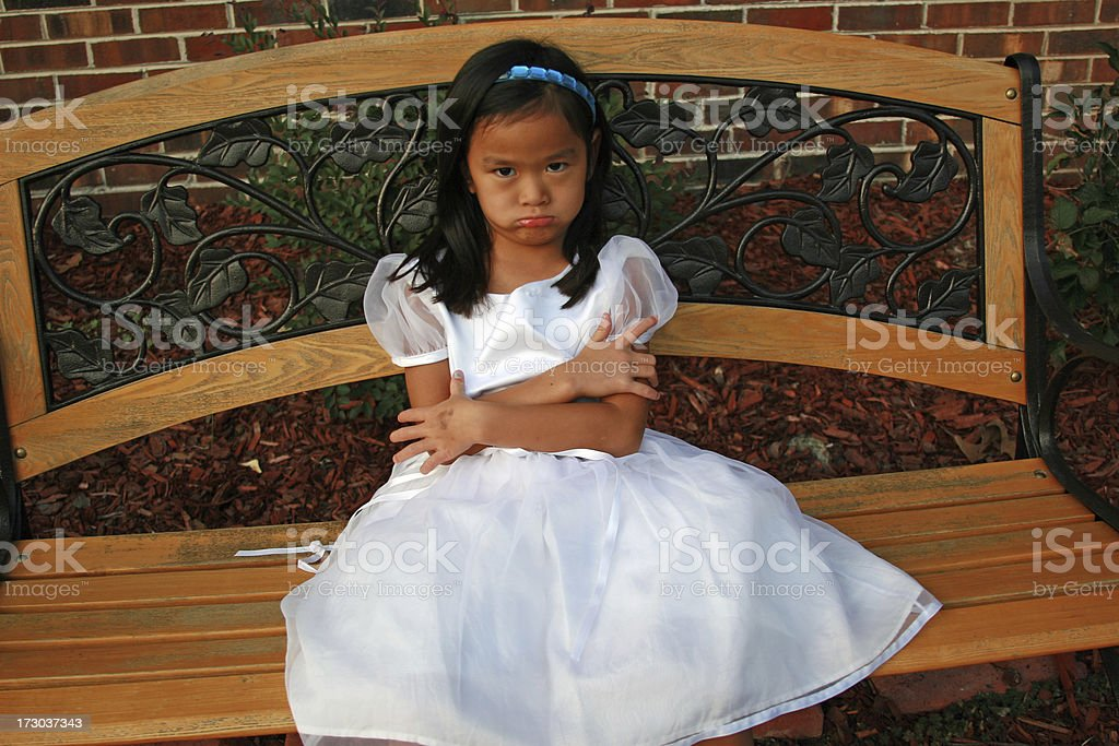 Asian girl pouting royalty-free stock photo