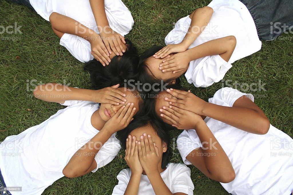 Asian girls (series) royalty-free stock photo