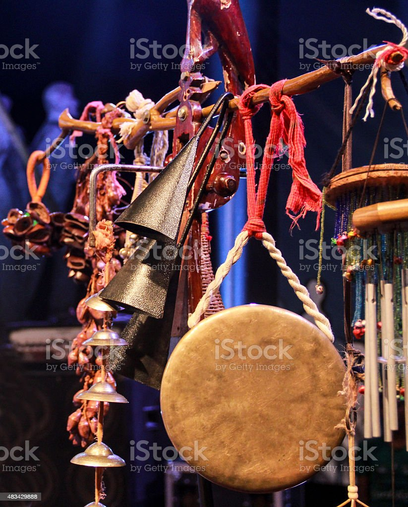 Asian Gong, finger cymbals, Castanets stock photo