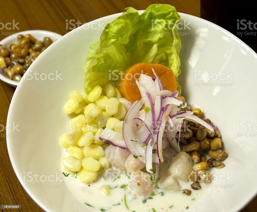 Asian Gourmet Salad Macro With Fresh Vegetables royalty-free stock photo