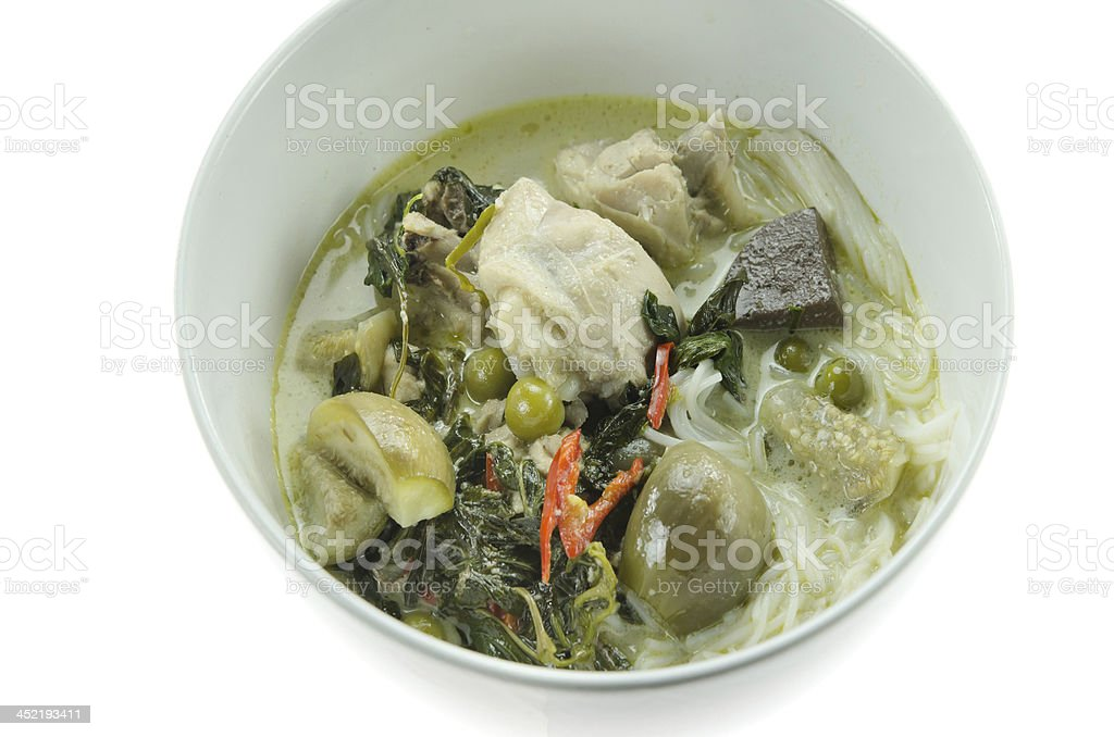 asian green curry royalty-free stock photo
