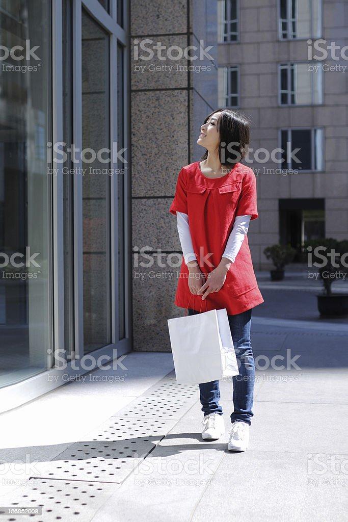 Asian Happy Shopping Girl - XLarge royalty-free stock photo