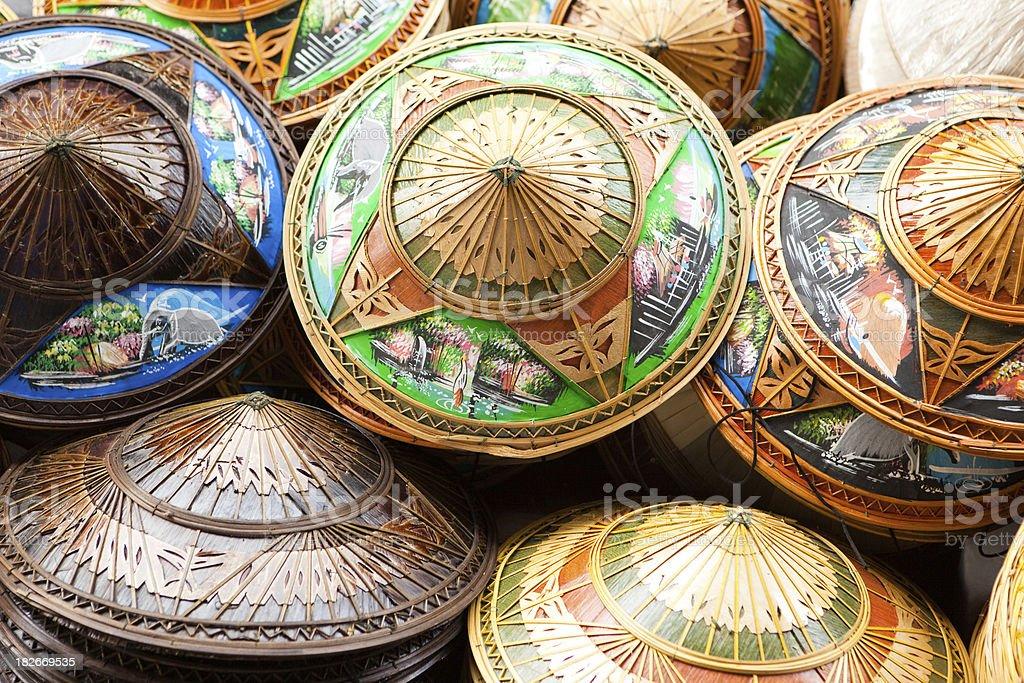 Asian hats royalty-free stock photo