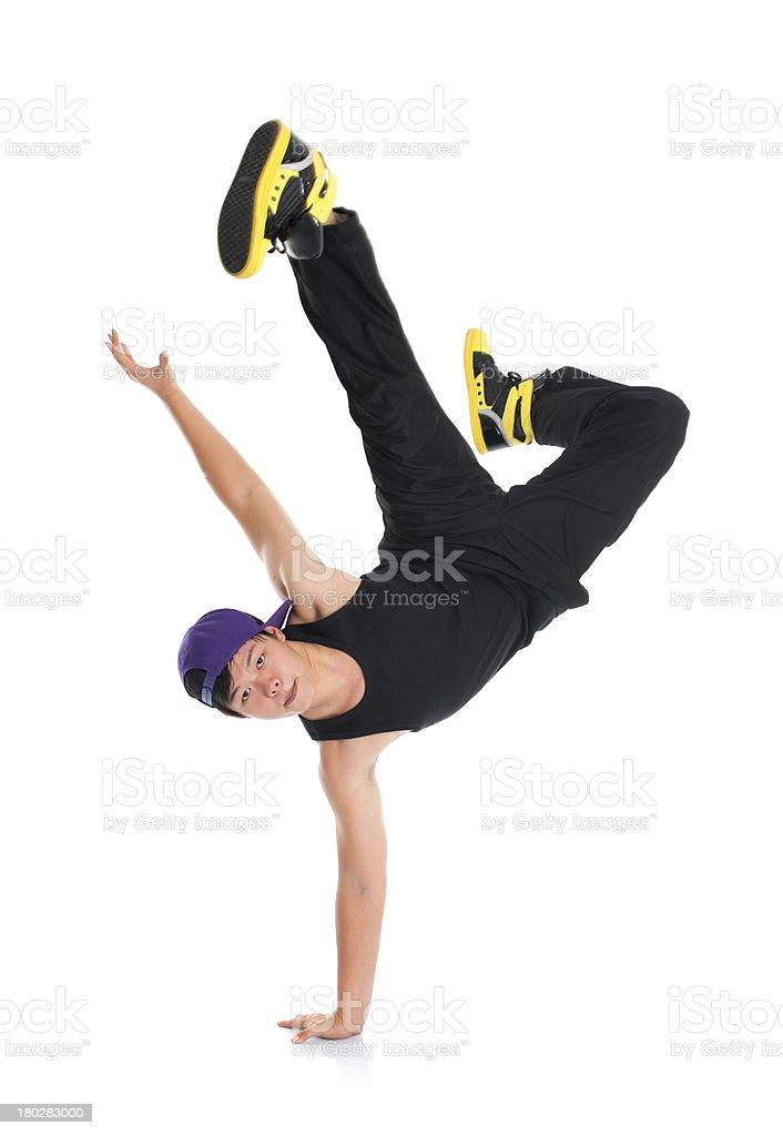 Asian hip hop dancer royalty-free stock photo