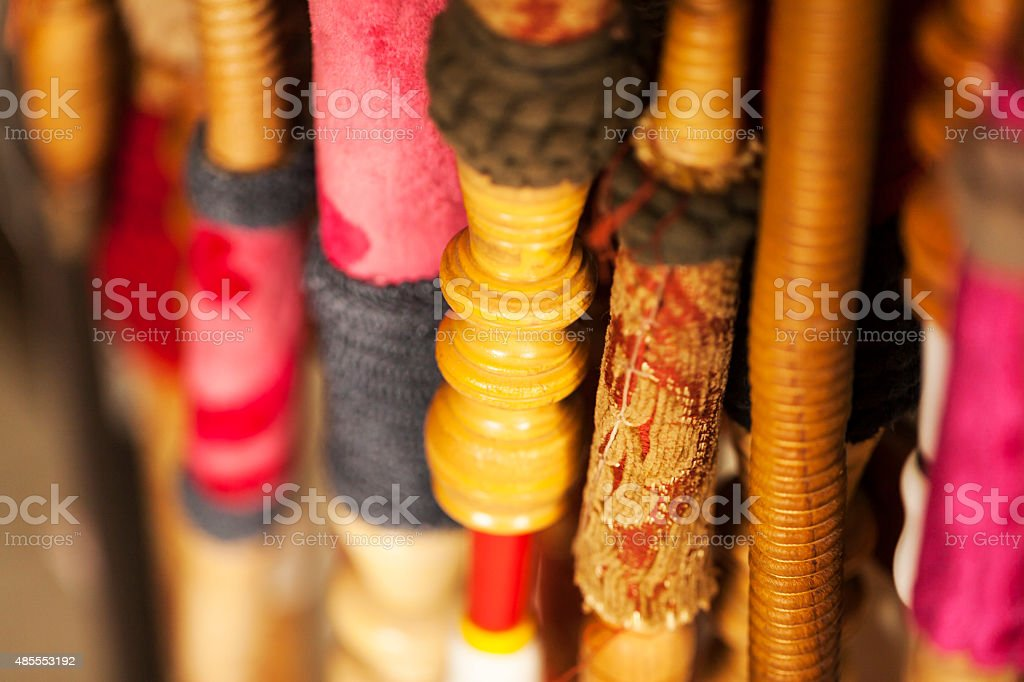 Asian Hookah Pipes stock photo
