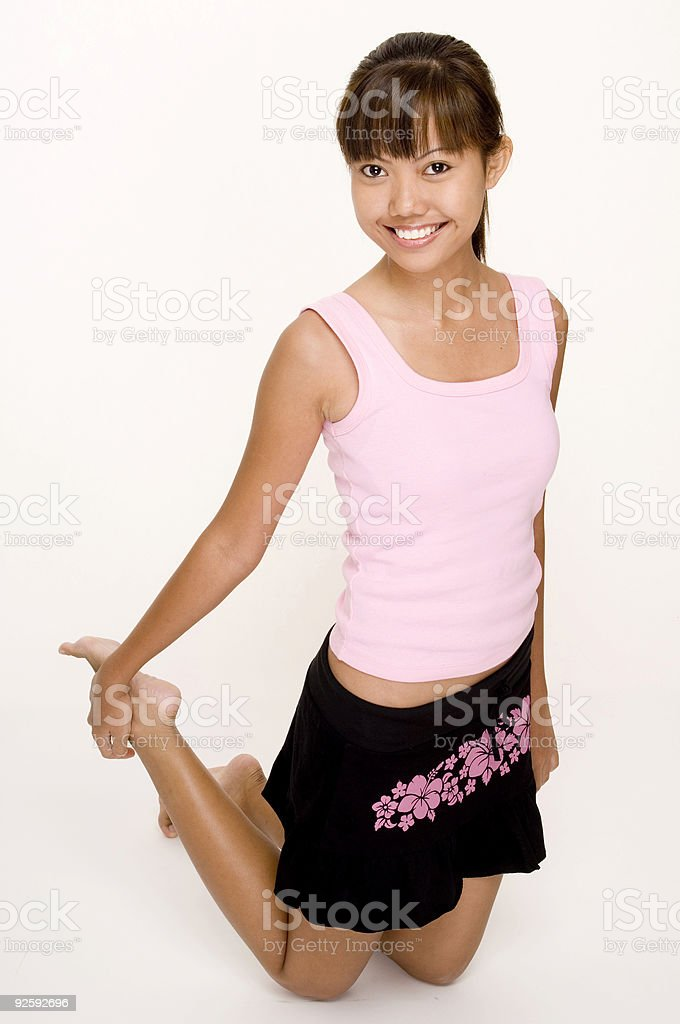 Asian In Pink 17 royalty-free stock photo