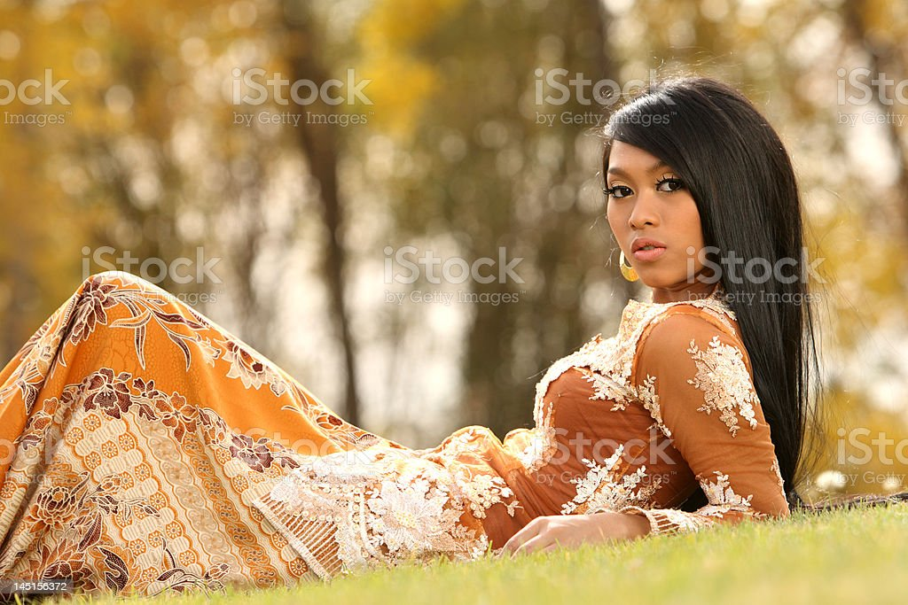 Asian Indonesian girl royalty-free stock photo