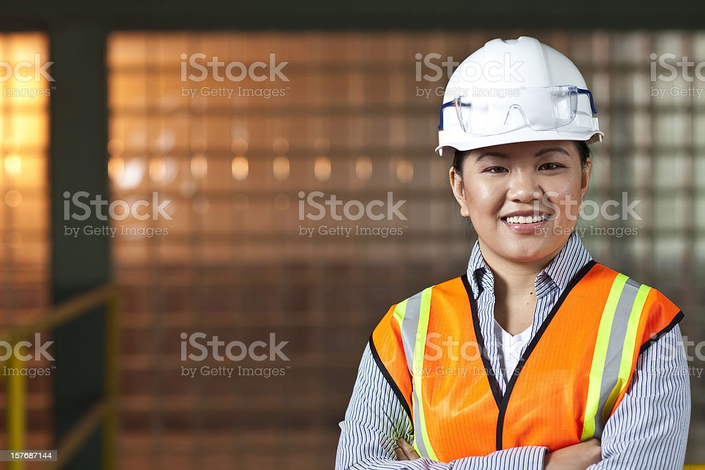 Asian industrial manager royalty-free stock photo