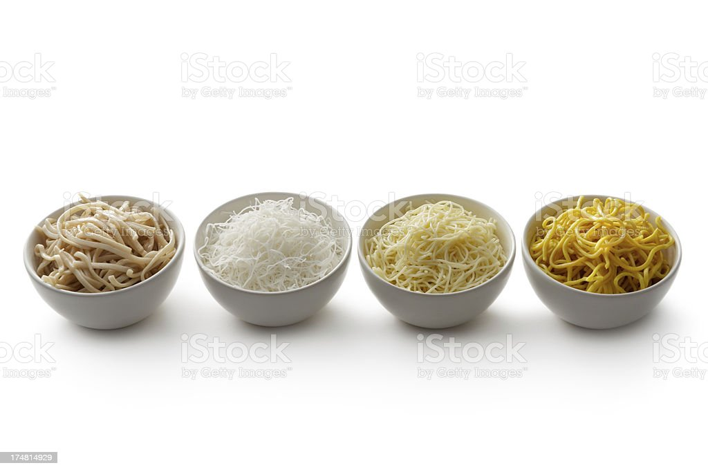 Asian Ingredients: Noodles in a Bowl royalty-free stock photo