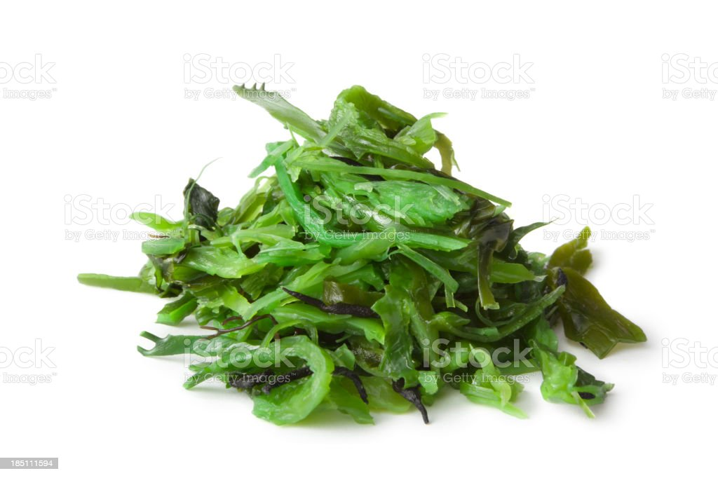 Asian Ingredients: Wakame Isolated on White Background stock photo