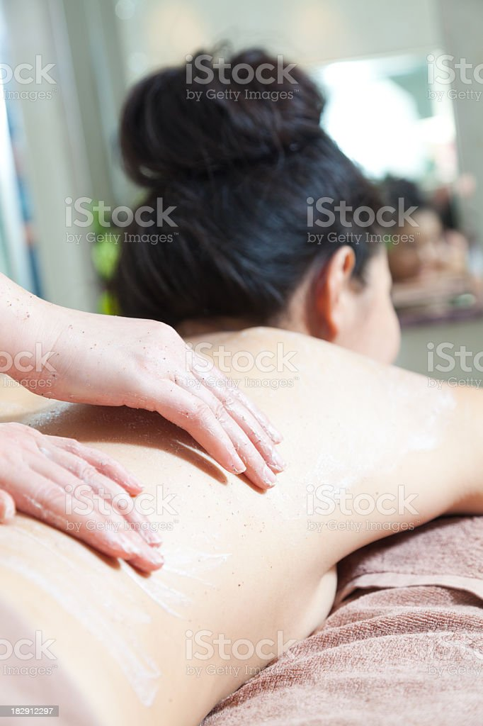 Asian lady at spa royalty-free stock photo