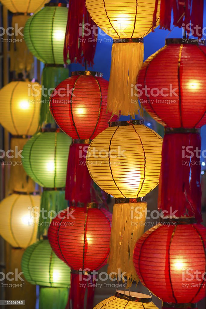 Asian lanterns in lantern festival stock photo