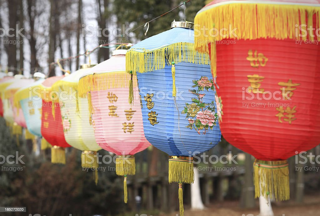 Asian Lanterns royalty-free stock photo