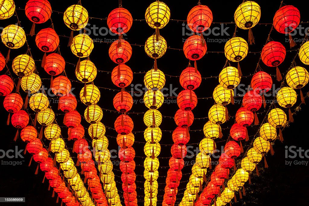 asian laterns royalty-free stock photo