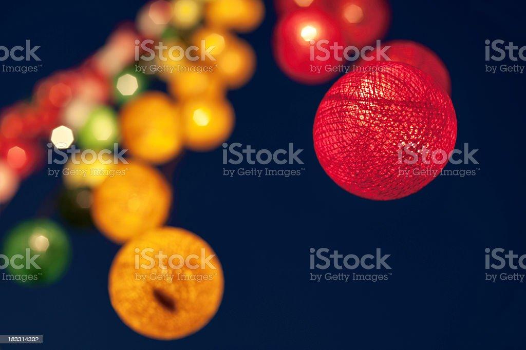Asian Lights stock photo