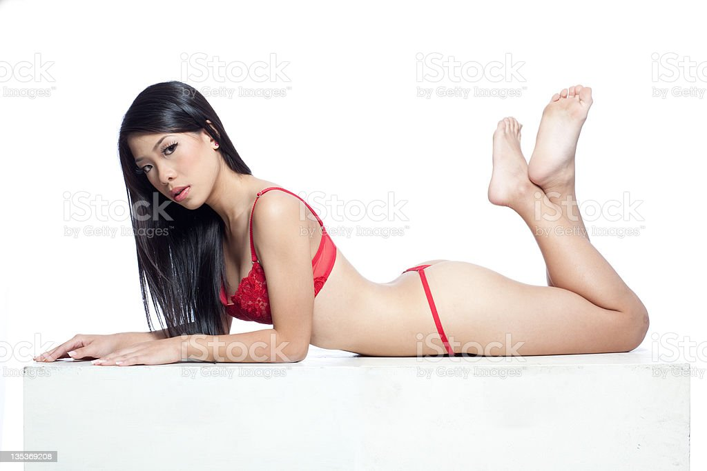 Asian lingerie model royalty-free stock photo