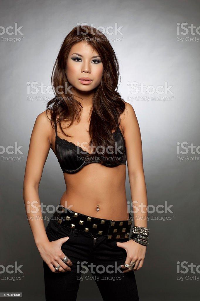 Asian lingerie model stock photo