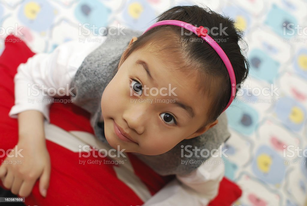 Asian little girl royalty-free stock photo