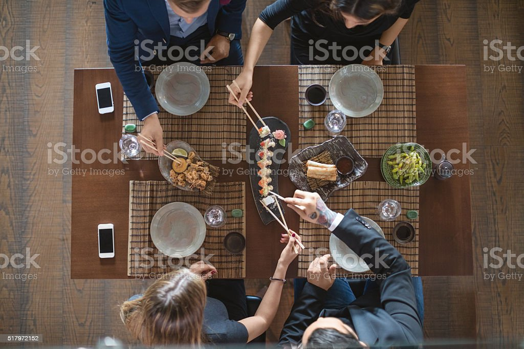 Asian lunch stock photo