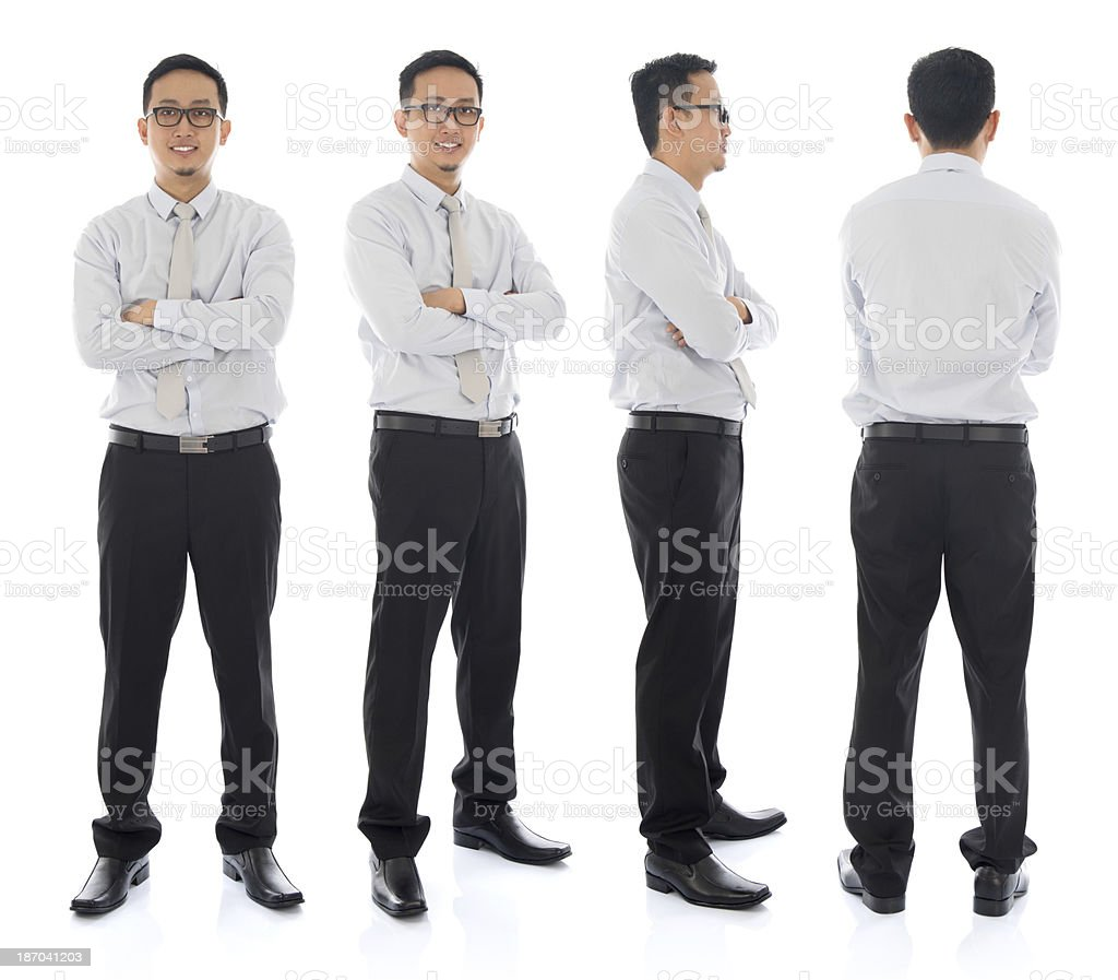Asian male in different angle stock photo