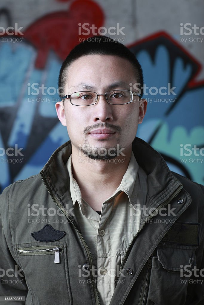 Asian male youth royalty-free stock photo