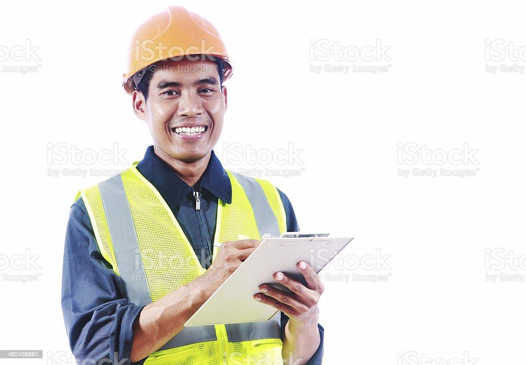 Asiatischen Mann-Ingenieur Lizenzfreies stock-foto
