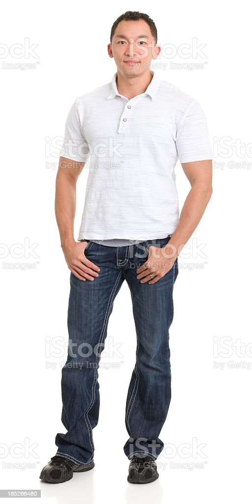 Asian Man Full Length Portrait stock photo
