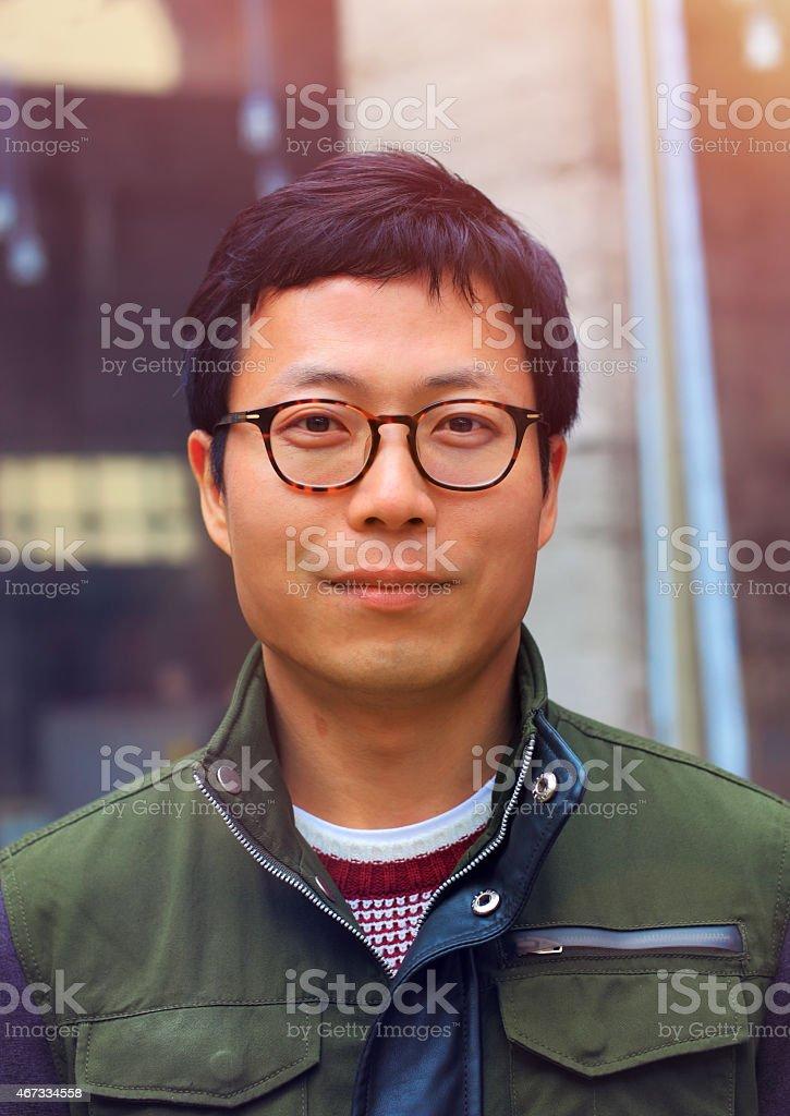 Asian Man Portrait stock photo