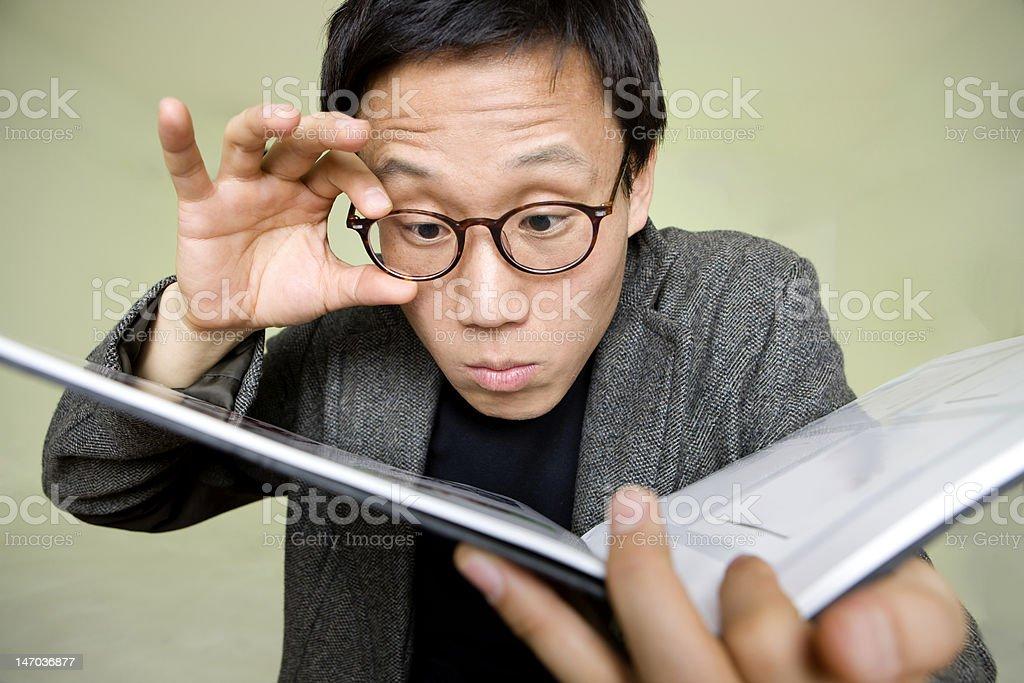 Asian man Reading royalty-free stock photo