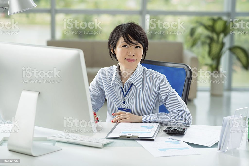 Asian manager stock photo