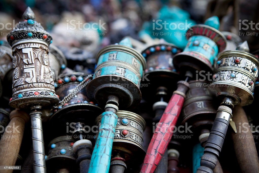 Asian Market Bazaar Nepal royalty-free stock photo