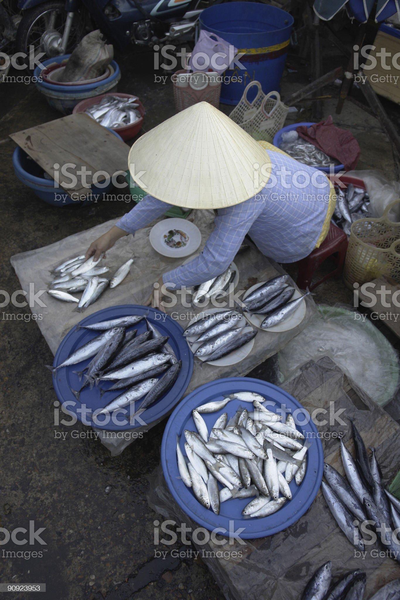 Asian Market fish royalty-free stock photo