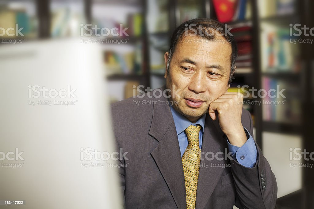 Asian mature businessman royalty-free stock photo
