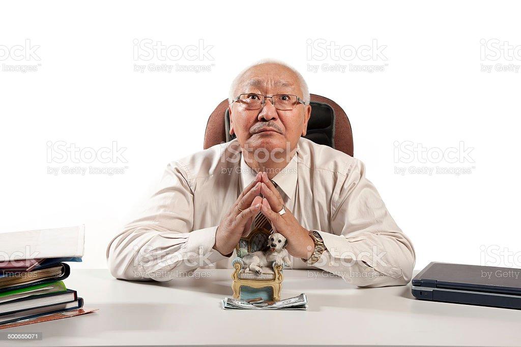 Asian mature men businessman royalty-free stock photo