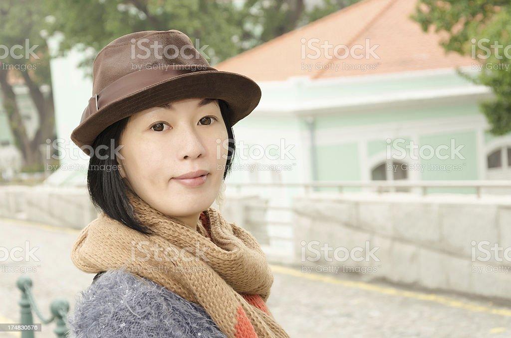 Asian mature woman royalty-free stock photo