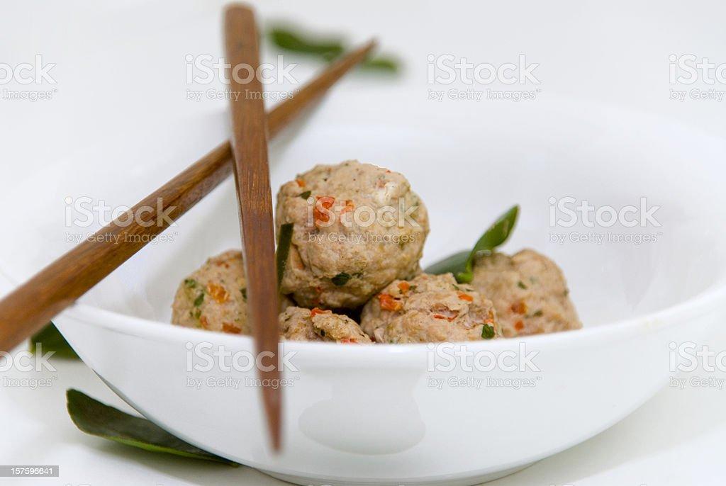 Asian Meatballs stock photo