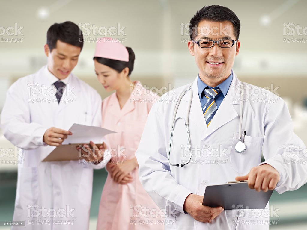 asian medical professionals stock photo