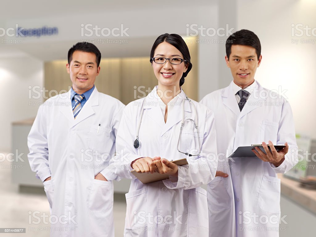 asian medical team stock photo