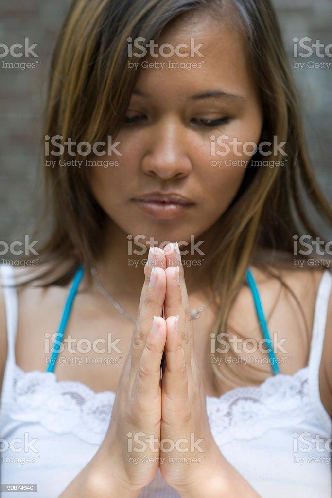 asian meditation royalty-free stock photo