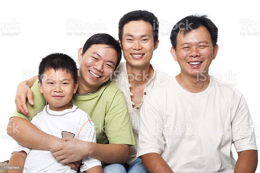 Asian men royalty-free stock photo