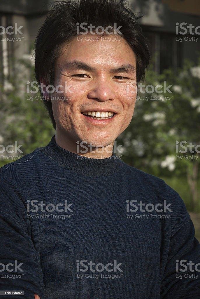 Asian middle-aged man portrait royalty-free stock photo