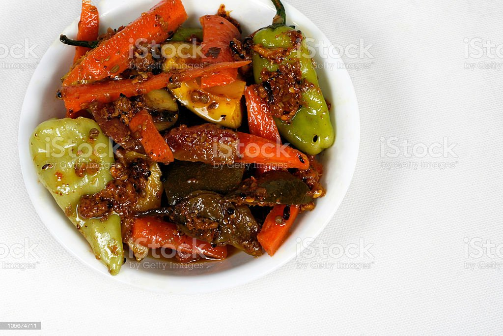 Asian Mixed Pickle royalty-free stock photo