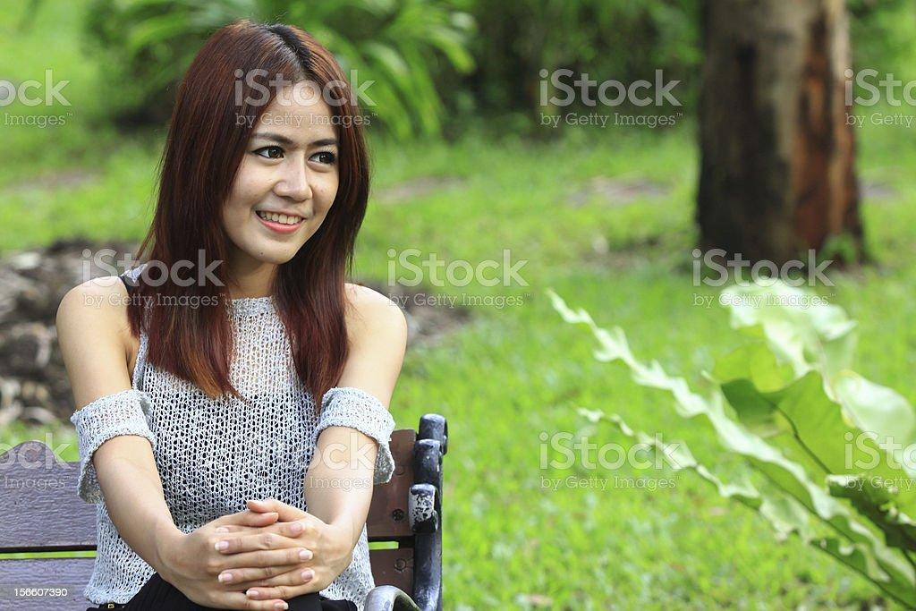Asian model royalty-free stock photo