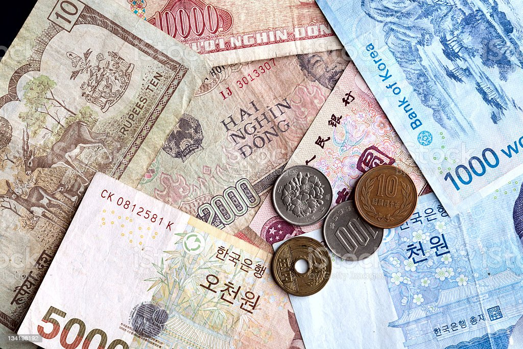 Asian money. stock photo