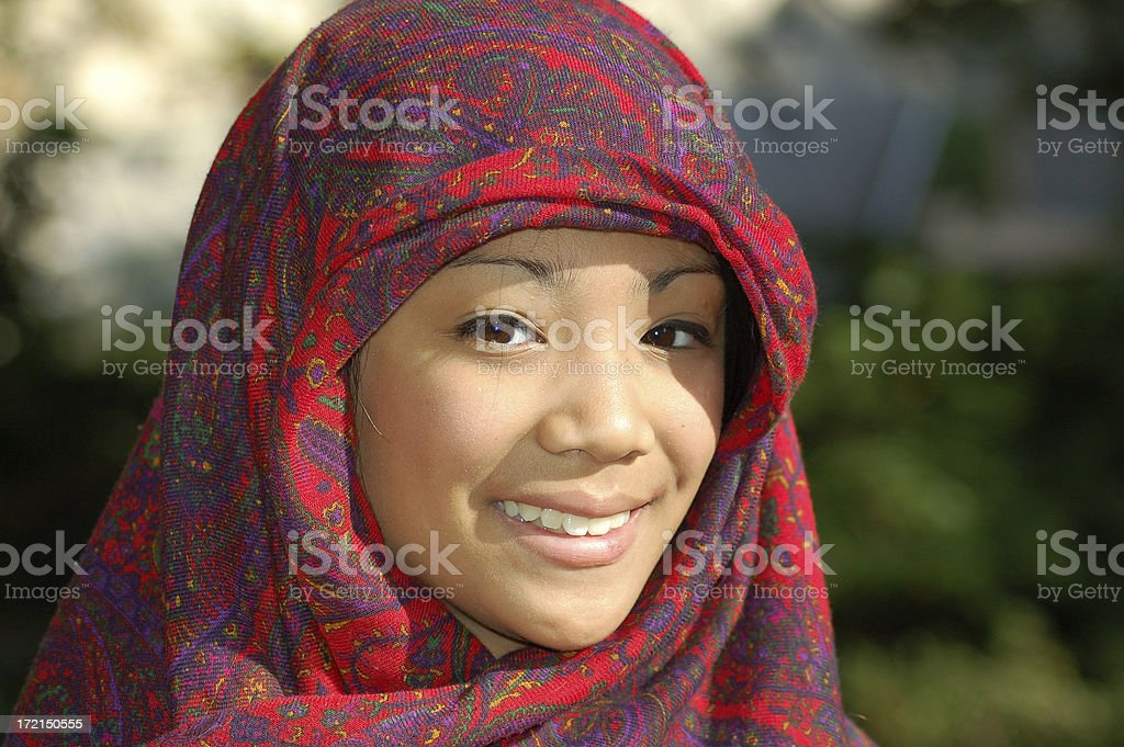 Asian Muslim girl royalty-free stock photo