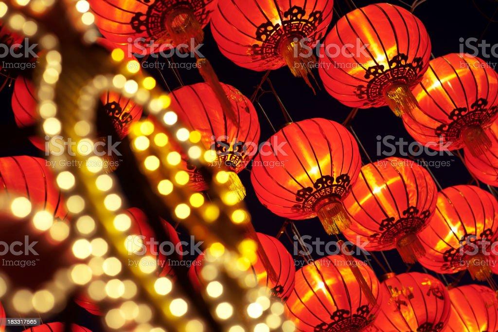Asian New Year Lanterns stock photo