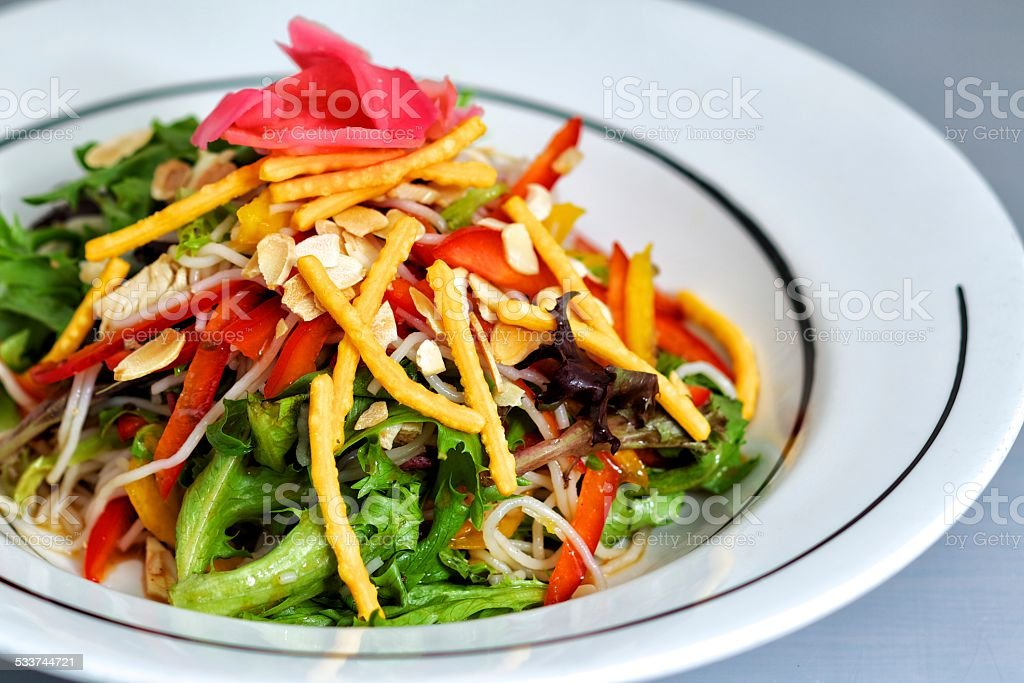 Asian Noodle Dish stock photo
